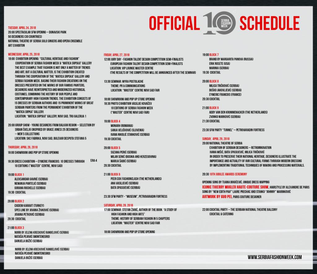 SFW 2018 aprilski program